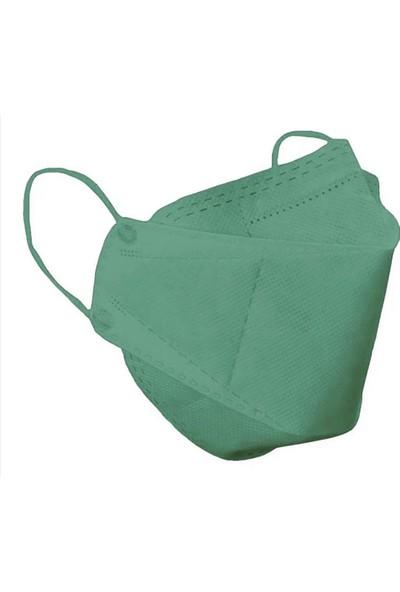 Zigavus 50 Adet F95 Yeşil Renk Kore Tipi Yüksek Filtrasyon Premium Maske