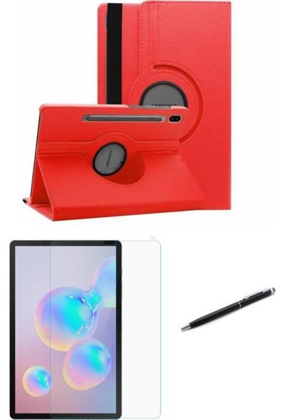Göha Samsung Galaxy Tab S6 Lite SM-P610 10,4 Inç Tablet Kılıfı Siyah Dönerli Kılıf Seti