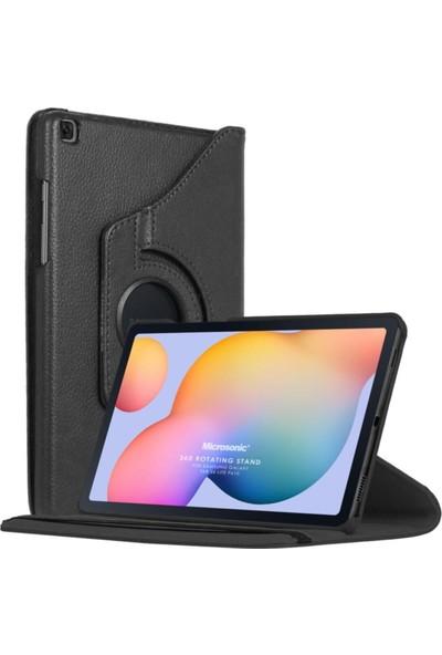 Göha Samsung Galaxy Tab S6 Lite 10.4' P610 Kılıf 360 Rotating Stand Deri Siyah