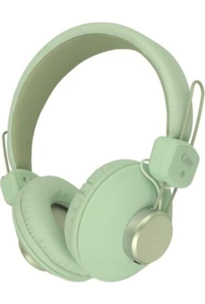Blupple Kablolu Mikrofonlu Kulak Üstü Katlanabilir Yüksek Ses Kulaklık Çocuk Genç Su Yeşili