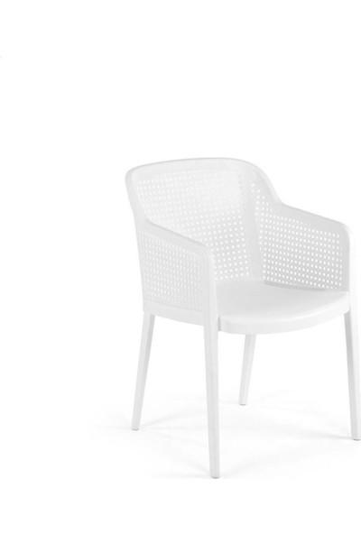 Tilia Orion 6 Kişilik Camlı Masa Sandalye Takımı Bahçe Balkon Seti