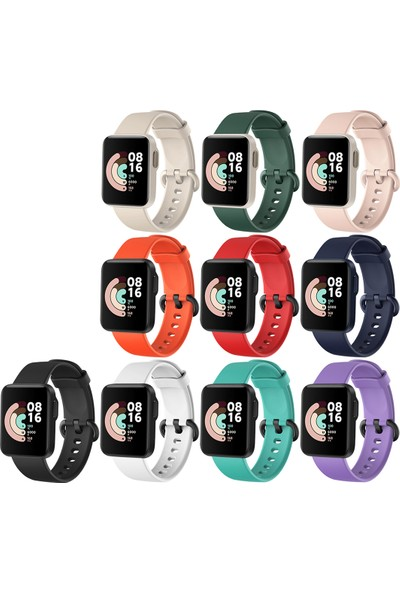 Kny Xiaomi Mi Watch Lite Için Ayarlanabilir Renkli Silikon Kayış-Kordon