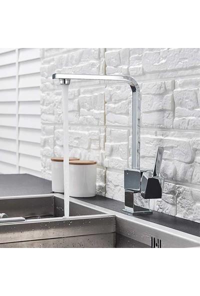 Kustar Mix Kuğu Kare Mutfak Eviye Bataryası