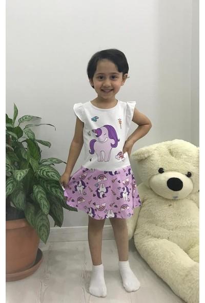 Kız Çocuk Askılı Elbise Lila 965-