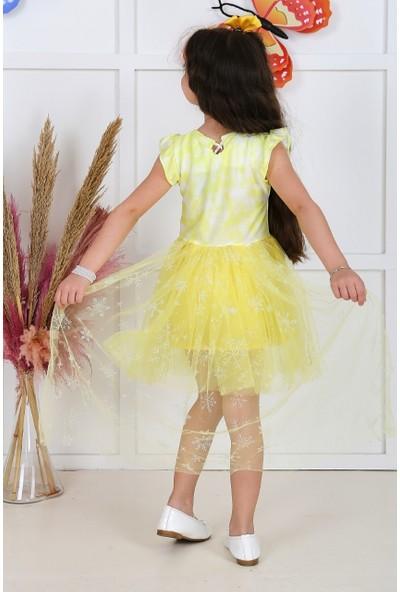 Baby Kız Çocuk Kuyruklu Tüllü Elbise Sarı 05703-S
