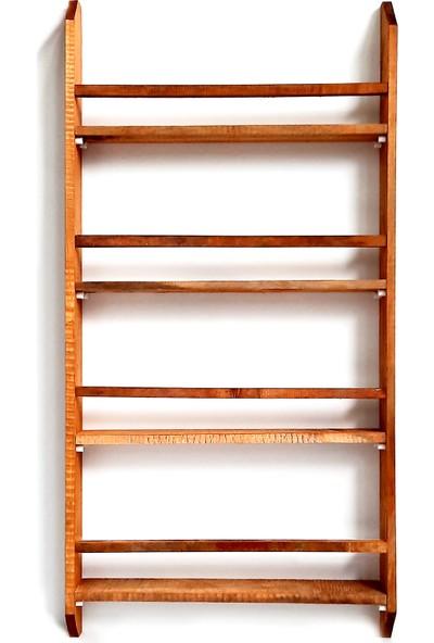 Yoko Ahşap Montessori Kitaplık Çocuk Odası Kahverengi Duvar Rafı 50X100 cm