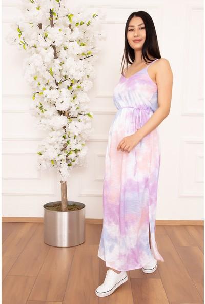Kalopya Kadın Ip Askılı Batik 258 Elbise