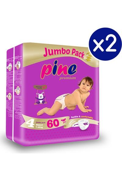 Pine Maxi (7-18 kg) 120 Adet Jumbo Dev Bebek Bezi