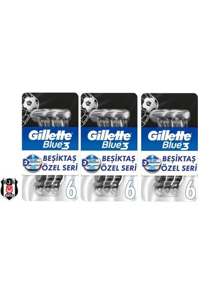 Gillette Blue3 6lı Besiktas Taraftar Paketi x 3 Adet