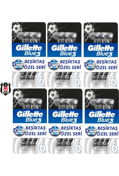 Gillette Blue3 6lı Besiktas Taraftar Paketi x 6 Adet