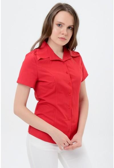 Sima Kadın Kırmızı Kırmızı Gömlek 1554-2-9