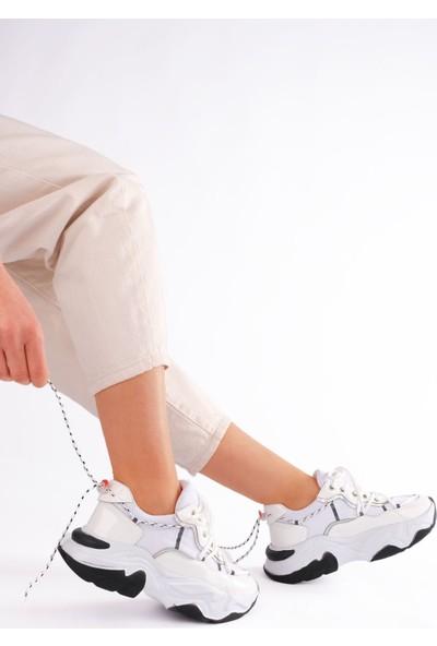 Roxıe Kadın Spor Aykkabı Rugan Beyaz