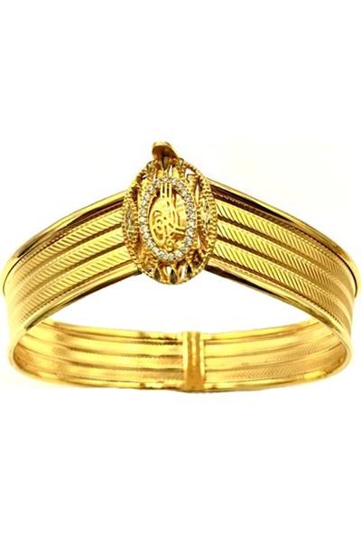 Tekin Gold Rize Işi Tuğra Kelepçe Bilezik