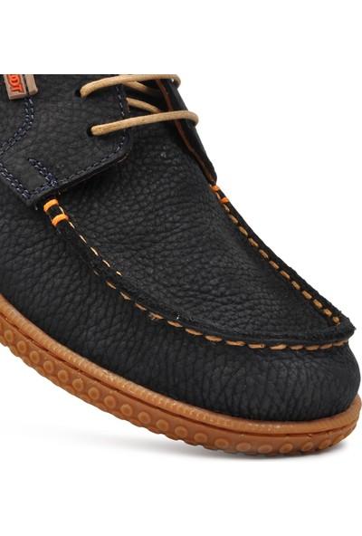 Free Foot 215340 Lacivert Nubuk Hakiki Deri Erkek Günlük Ayakkabı