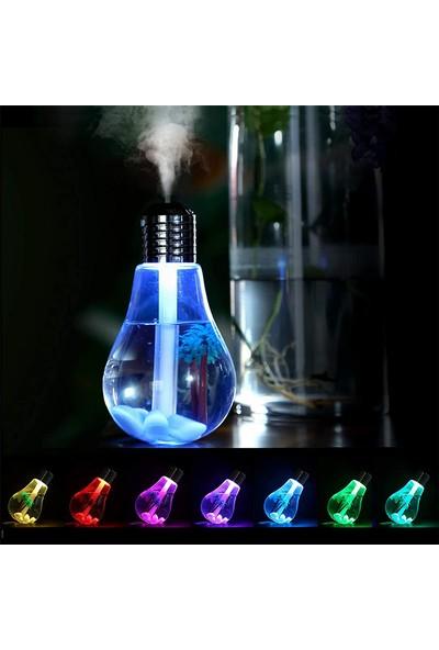 Yasemin Yağı Ile Buhurdanlık Ampul Hava Nemlendirici Buhar Makinesi Aromaterapi 7 LED Işıklı Difüzör