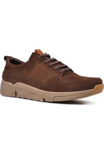 Free Foot 4101-1 Kahve Hakiki Deri Erkek Günlük Ayakkabı