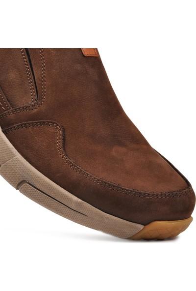 Free Foot 4103-2 Kahve Hakiki Deri Erkek Günlük Ayakkabı