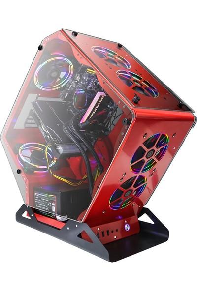 """Dragos DRx301 Ryzen 7 3700X 8GB Ram 256GB M.2 NVMe 8GB RX580 Freedos 27"""" Mon. Oyun Bilgisayarı"""