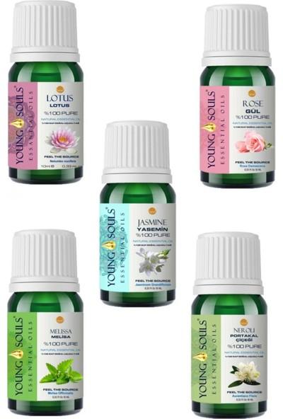 Young Souls Aromaterapi Elite 5'li Lotus Gül Yasemin Neroli Melisa 50 ml