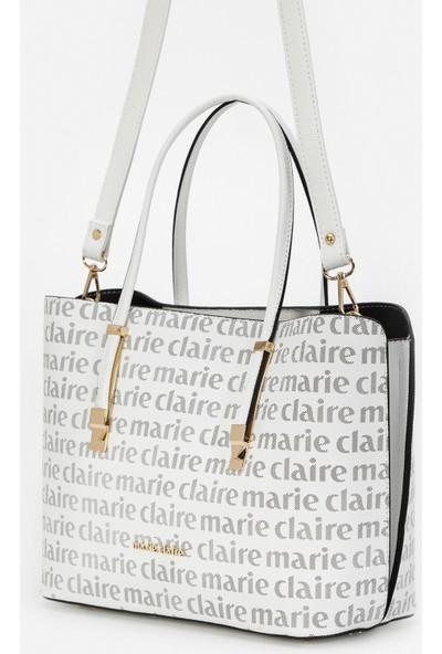 Marie Claire Beyaz Siyah Kadın Omuz Çantası Roman MC212101133