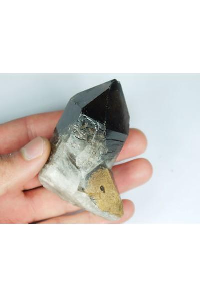 Crystal Koleksiyonluk Kalite Dumanlı Kuvars Kristal Kütle Tamamen Doğal Mineral Kayaç !