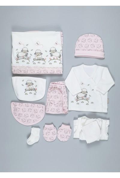Dandini Kanaviçe Kuzu Kız Bebek Hastane Çıkışı 10LU Set