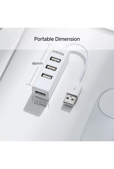 Unitek Beyaz 4 Bağlantı Noktalı USB 2.0 Hub