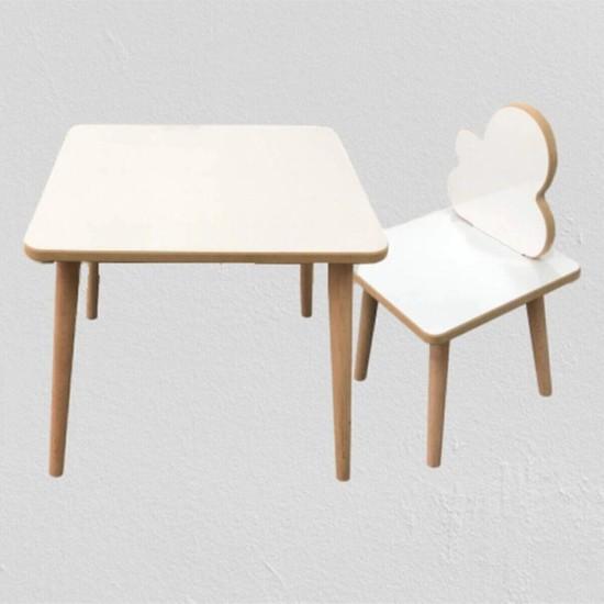 Web Kapında Yaz Sil Yüzey Çocuk Masa Sandalye Takımı 1 Aktivite Oyun Masası 1 Sandalye Sürpriz Hediyeli