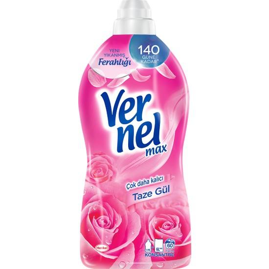 Vernel Max Konsantre Sıvı Çamaşır Yumuşatıcısı Taze Gül 1440ml, 60 Yıkama