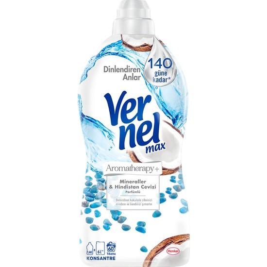 Vernel Max Konsantre Sıvı Çamaşır Yumuşatıcısı Hindistan Cevizi 1440ml 60 Yıkama