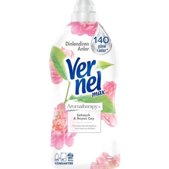 Vernel Max Konsantre Sıvı Çamaşır Yumuşatıcısı Şakayık&Beyaz Çay 1440ml 60 Yıkama
