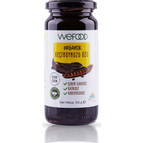 Wefood Organik Keçiboynuzu Özü 315 gr (Soğuk Sıkım)