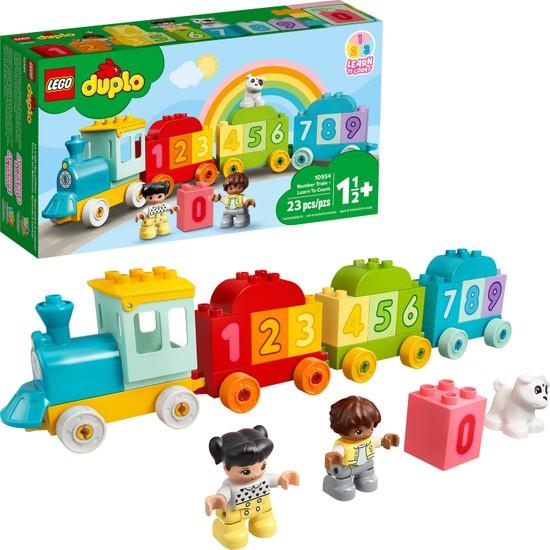 LEGO LEGO® Duplo® İlk Sayı Treni - Saymayı Öğren 10954 Yapım Oyuncağı; Küçük Çocukları Sayılar ve Sayma ile Tanıştırın (23 Parça)