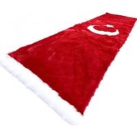 Yekoto Peluş Ay Yıldız Türk Bayrağı Torpido Halısı 150 x 50 cm
