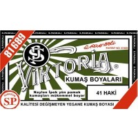 Viktoria 41 Kumaş Boyası Haki 3'lü