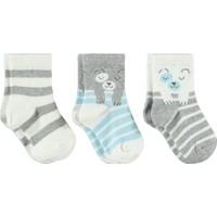 Civil Baby Erkek Bebek 3'lü Çorap Set 0-24 Ay Ekru