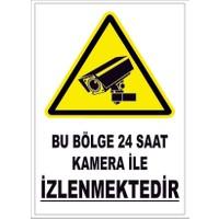 Vav Reklam Güvenlik Kamerası Levhası 21 x 29 cm