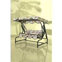 İskele Paris 3 Kişilik Bahçe Salıncağı Balkon Teras Salıncak Gümüş