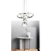 Burenze Modern Tekli Sarkıt Power LED Avize Concept Ürün Krom Beyaz Işık BURENZE372