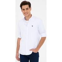 U.S. Polo Assn. Beyaz Gömlek Uzunkol Basic 50238007-VR013