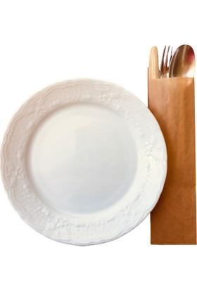 Anadolu Kağıtçılık Çatal Kaşıklık Çizgisiz Baskısız Şamua Kraft Kese Kağıdı 7cm x 28CM 10 kg 3400'LÜ