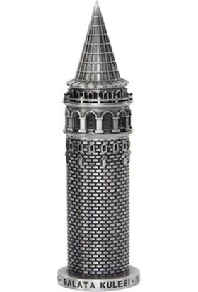 Burdan Eve Gümüş Galata Kulesi Dekoratif Galata Figürü Biblo