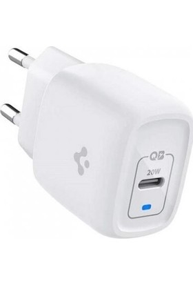 Spigen PowerArc ArcStation 20W Hızlı Şarj Cihazı Gallium Nitride (GaN) Charger USB-C PD 3.0 (Power Delivery) Duvar Şarjı - ACH02071