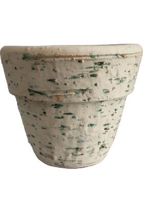 Armenbotanik Antik Görünümlü Eskitme Toprak Saksı 12 cm x 12 cm