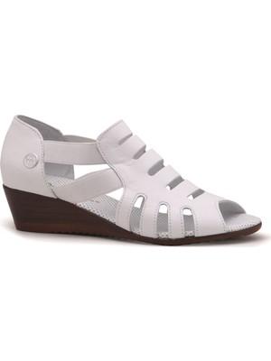 Mammamia D21YA-260 Deri Bayan Ayakkabı - Beyaz