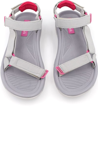 Shoemark Melani Gri Kadın Sandalet