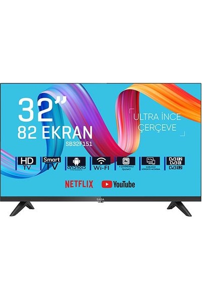 "Saba Tv SB32F151 32"" 81 Ekran Uydu Alıcılı Hd Android LED Tv"