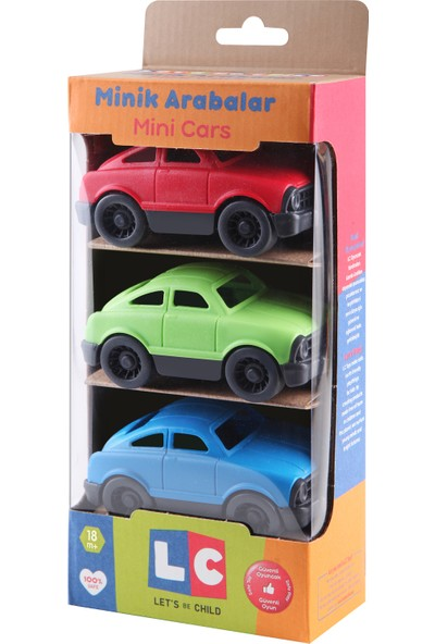 LC Minik Arabalar 3'lü