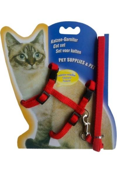 Katzen Kedi Göğüs Tasması-Kırmızı