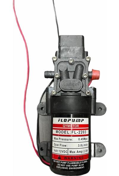 Flopump Akülü Su Aktarma ve Ilaçlama Motoru Pompası 12 Volt